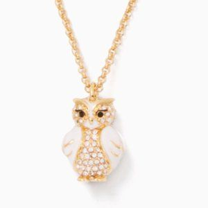 Kate Spade Star Bright Owl Mini Pendant Necklace